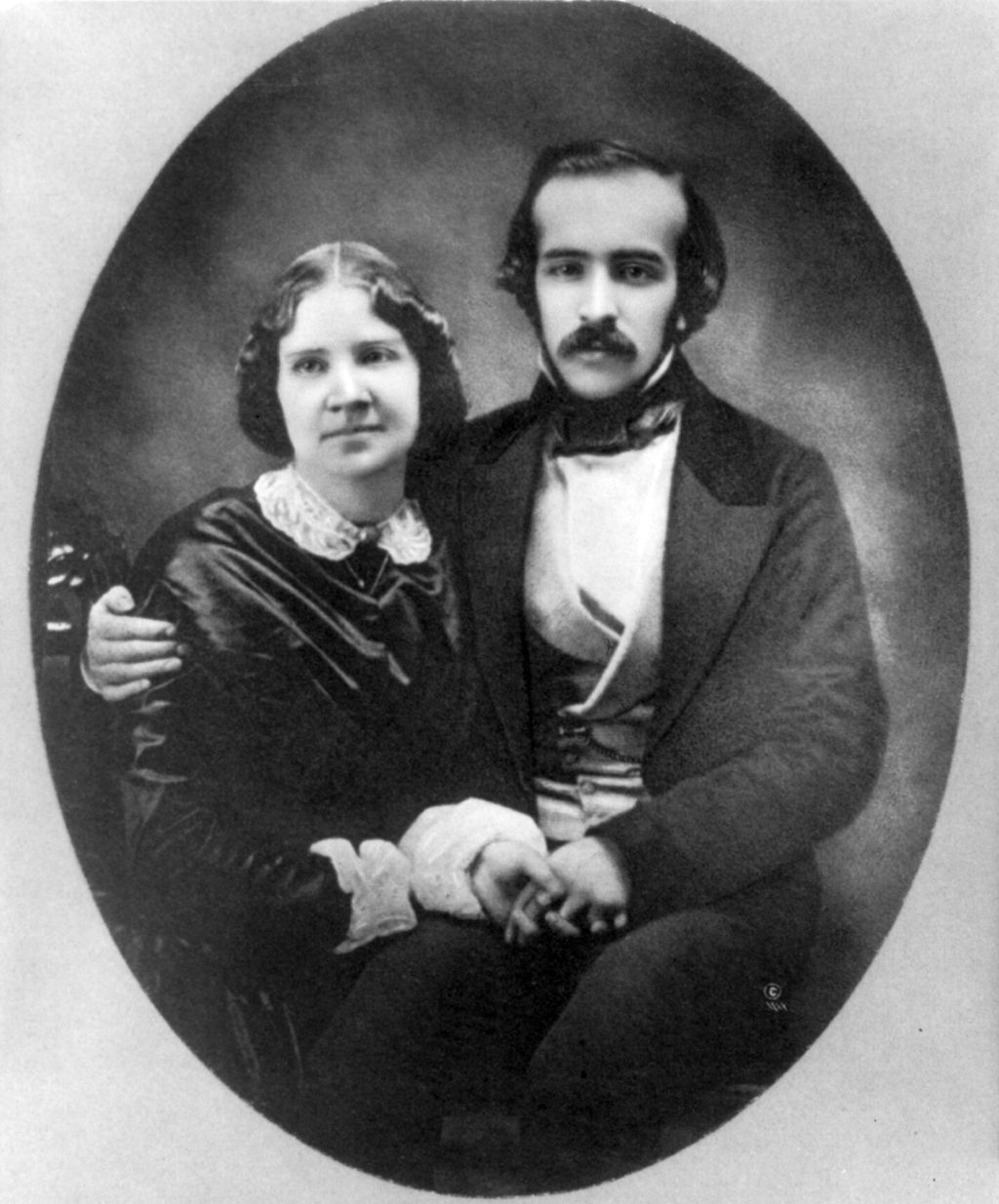 <b>Jenny Lind</b>     	</br>Jenny Lind with her accompanist and soon to be husband Otto Goldschmidt.</br><br/><b>Source: </b><i>Public Domain. https://en.wikipedia.org/wiki/Jenny_Lind_private_railroad_car#/media/File:Jenny_Lind_and_Otto_Goldschmidt_cph.3a48920.jpg</i>