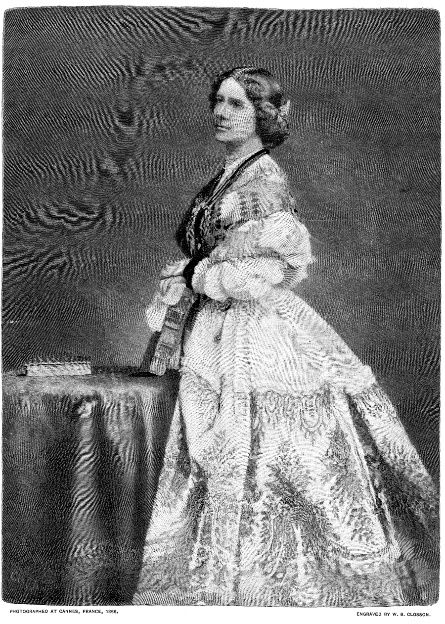 <b>Jenny Lind</b>     	</br>Jenny Lind, photographed at Cannes, 1866.</br><br/><b>Source: </b><i>Public Domain. https://en.wikisource.org/wiki/Century_Magazine/Volume_45/Issue_2/Notable_Women._Jenny_Lind#/media/File:Century_Mag_Jenny_Lind.png</i>