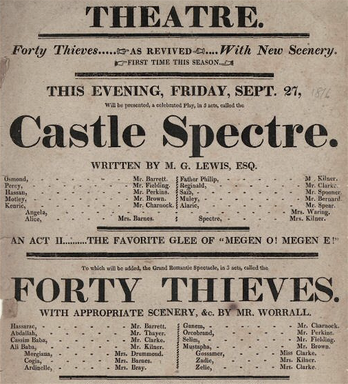 /media/Castle Spectre playbill, 1822