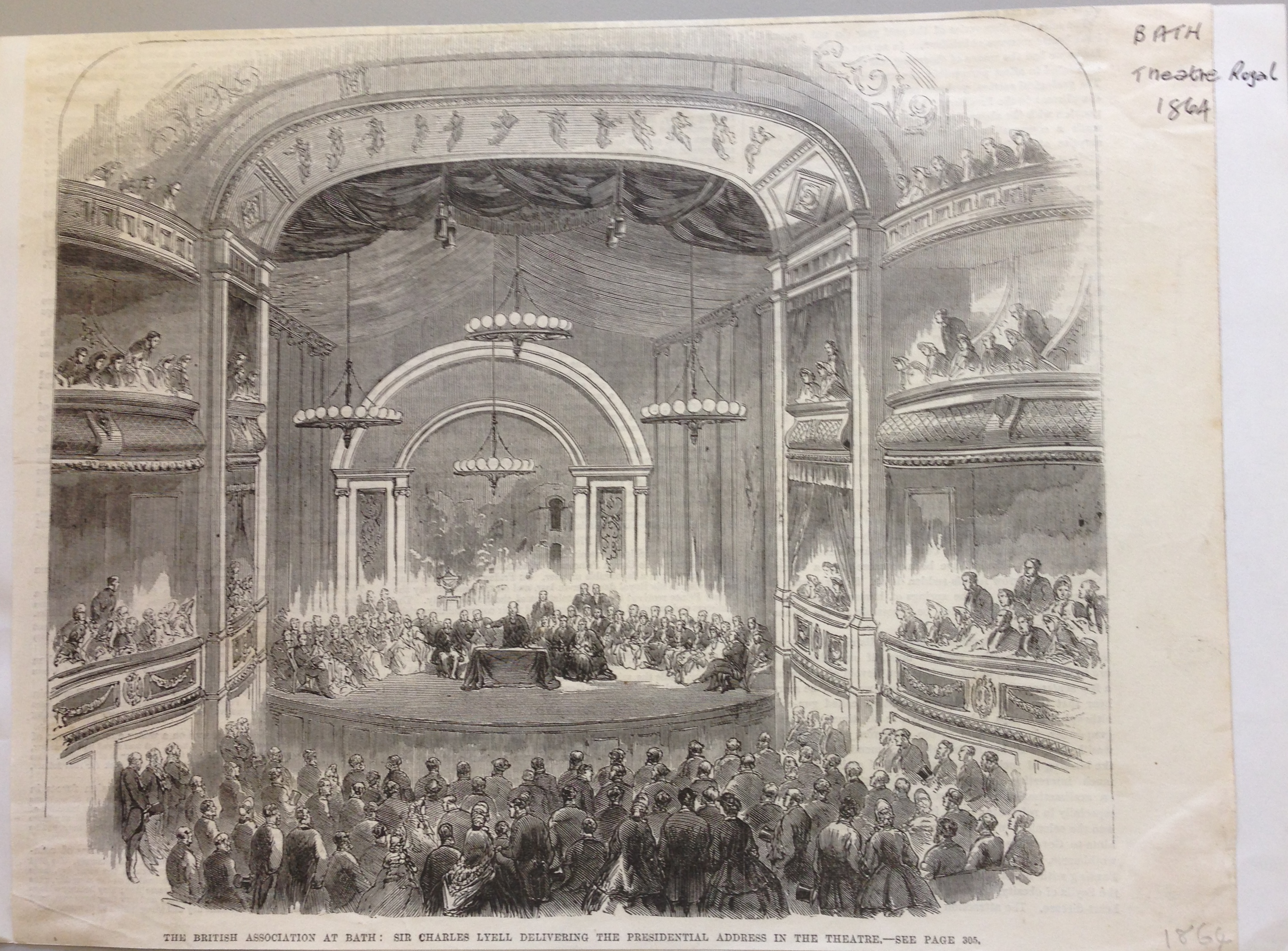 <b>Interior of Theatre Royal, Bath</b>     	</br>Interior of the Theatre Royal in Bath, c. 19th century.</br><br/><b>Source: </b><i>Used with permission from the University of Bristol Theatre Collection.</i>