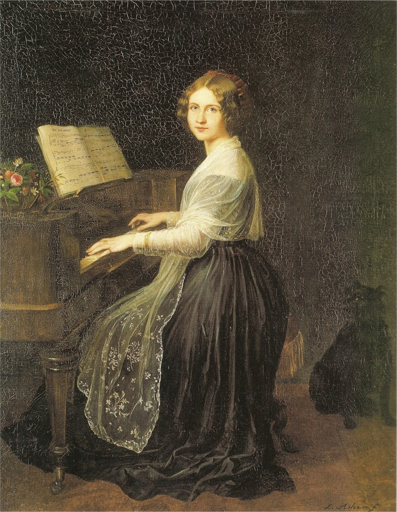 <b>Jenny Lind</b>     	</br>Painting of Jenny Lind by J.L. Asher 1845</br><br/><b>Source: </b><i>Public Domain. https://commons.wikimedia.org/wiki/Jenny_Lind#/media/File:Jenny_Lind_-_JLAsher_1845.jpg</i>