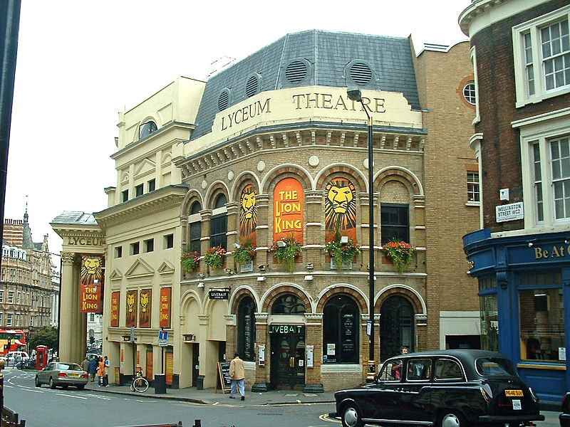 <b>Lyceum Theatre, 2007</b>     	</br>Current image of the exterior of Lyceum Theatre, London, 2007</br><br/><b>Source: </b><i>Lyceum Theatre, London, 2007 by Andy Roberts. Available under a Creative Commons Attribution 2.0 Generic License at http://commons.wikimedia.org/wiki/File:London_Lyceum_Theatre_2007.jpg</i>