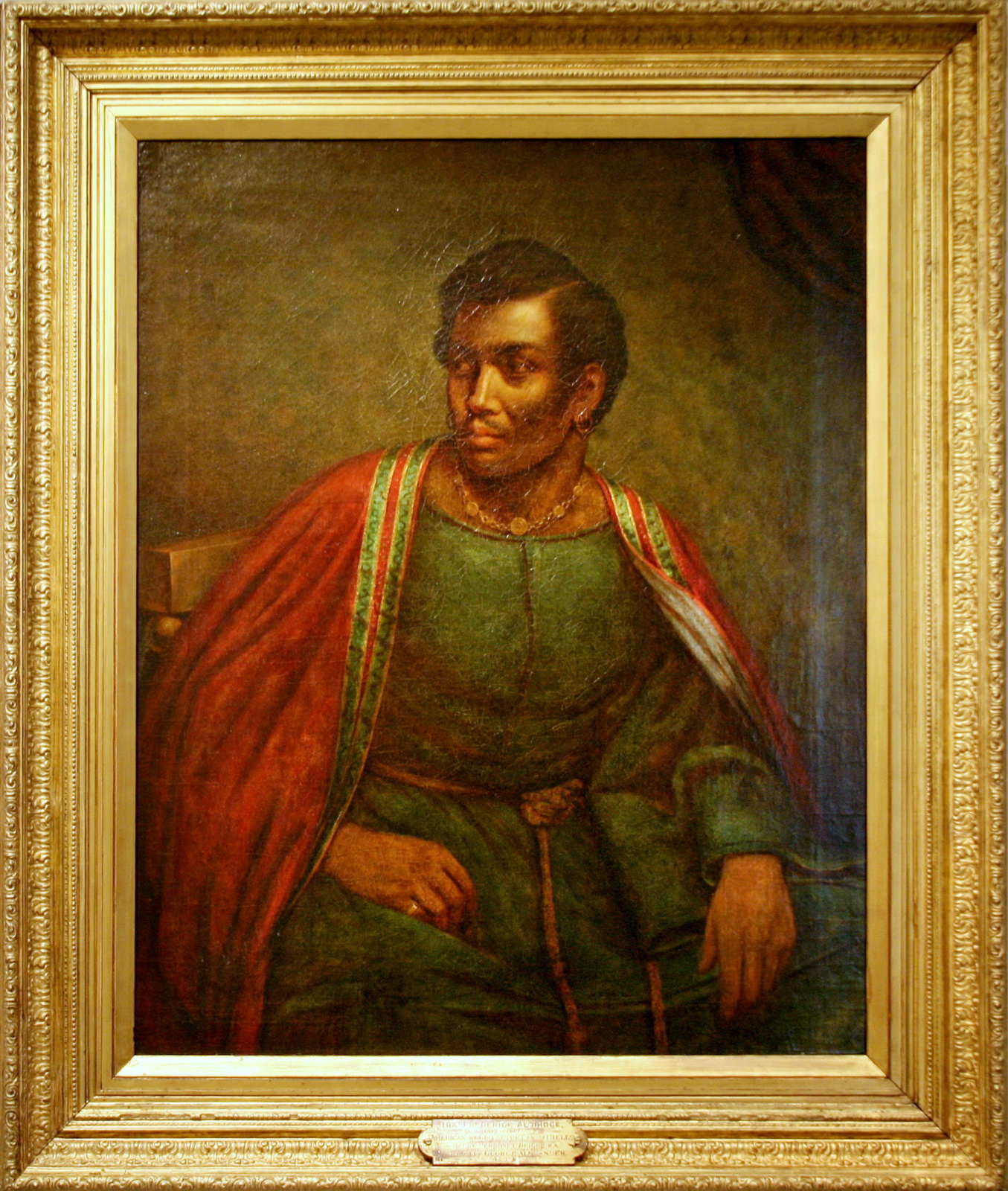 <b>Othello, 1830</b>     	</br>Oil painting of Ira Aldridge as Othello, c.a. 1830</br><br/><b>Source: </b><i>Ira Aldridge as Othello by Henry Perronet Briggs, owned by the National Portrait Gallery, Smithsonian Institution, published by Cliff (cliff1066 tm). Available under a Creative Commons Attribution License 2.0 at http://www.flickr.com/photos/28567825@N03/3429415090/in/photolist-6e3DCo-6e3DYq-6GoGpw-dWsmRh-dWmHRB</i>