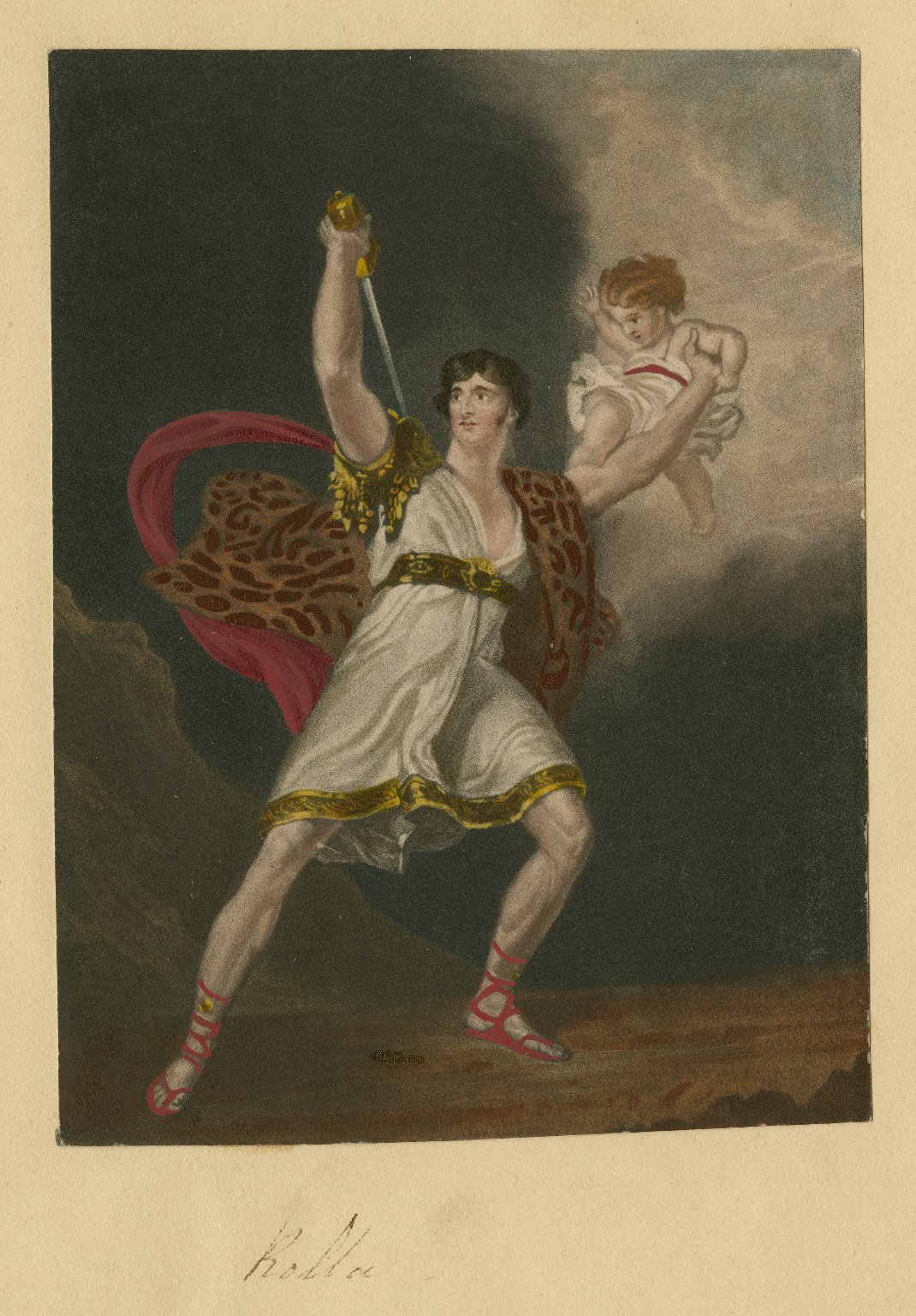 <b>Rolla</b>     	</br>Actor John Philip Kemble as Rolla in Pizzaro, 19th century</br><br/><b>Source: </b><i>J.P. Kemble [as] Rolla (Call number: ART File K31.4 no.61), 19th century, Folger Digital Image Collection, University of Cincinnati Libraries Digital Collections, University of Cincinnati, http://digproj.libraries.uc.edu:8180/luna/servlet/s/g7xh17</i>