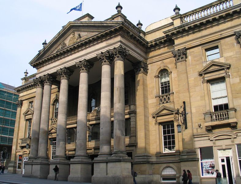 <b>Theatre Royal, Newcastle, 2006</b>     	</br>Current image of the exterior of the Theatre Royal, Newcastle, England, 2006</br><br/><b>Source: </b><i>Facade of the Theatre Royal, Newcastle upon Tyne by John-Paul Stephenson. Available under a Creative Commons Attribution Share-Alike 2.5 Generic License at http://commons.wikimedia.org/wiki/File:Theatre_Royal,_Newcastle_upon_Tyne.jpg</i>